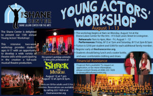 2016 Young Actors' Workshop Registration