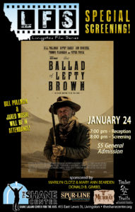 Special Pre-sale of 75 tickets for the Ballad of Lefty Brown