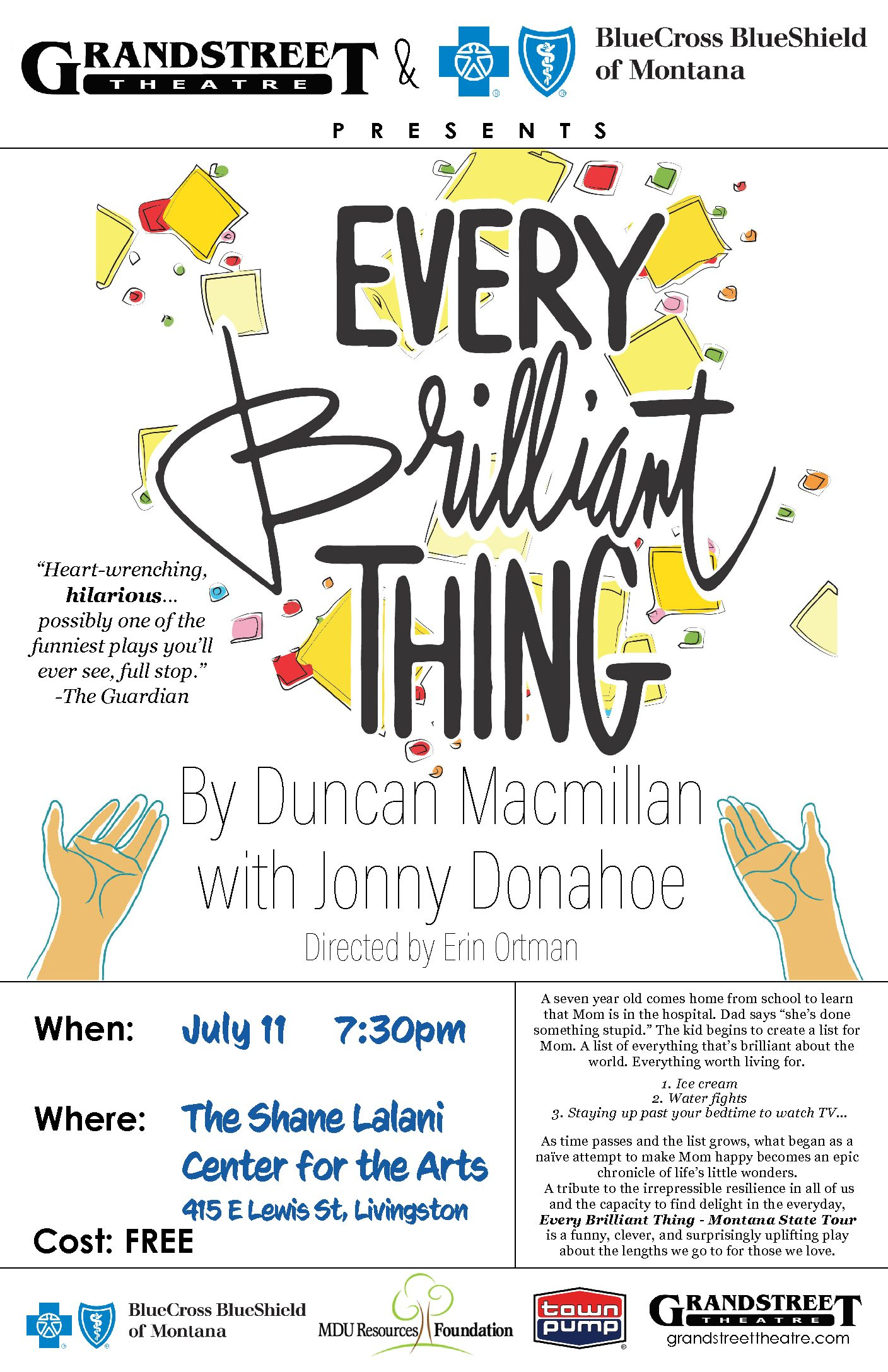 Every Brilliant Thing - Shane Lalani Center for the Arts